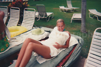 PRETTY LADY Vintage FOUND PHOTO Woman COLOR Snapshot FREE Shipping M 81 27