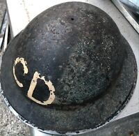 WORLD WAR TWO 2 WWII CIVIL DEFENCE AIR RAID HELMET