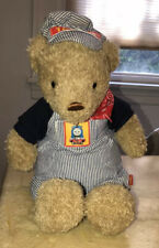 """Thomas The Tank And Friends 2009 Engineer Conductor Teddy Bear 16"""" Tall"""