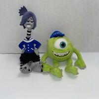 Disney Monsters University Claire Wheeler & Mike Wazowski Plush Lot Monsters Inc