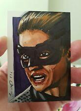 BATMAN CATWOMAN ANNE HATHAWAY SKETCH CARD BY JONATHAN D GORDON ACEO PSC