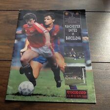 MAN UTD SIGNED 1991 CUP WINNERS CUP FINAL PROGRAMME, one of a kind.