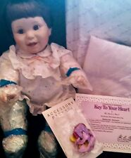 Danbury Mint Key To Your Heart Collectible Porcelain Doll 1991