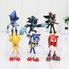 6pc/set Sonic the hedgehog Boom Rare Shadow the Hedgehog Miles Prower Knuckles
