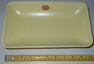 Hyalyn Pottery Mod 225 Yellow Tray MCM Mid Century Modern Dish Platter