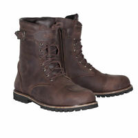 Spada Men's Pilgrim Grande WP Motorcycle Motorbike Leather Urban Boots - Brown