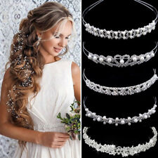 Wedding Bridal Accessories Crystal Pearl Headband Headpiece Hair Band Tiara Lot