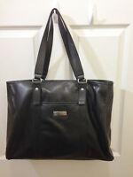 Women's Tommy Hilfiger Logo Black Large Tote Handbag bag Purse