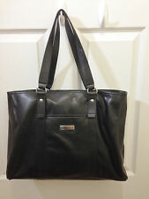 Tommy Hilfiger Logo Black Large Tote Handbag bag Purse