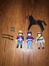 Lot Of Vintage Playmobil Union Confederate Civil War Soldiers Guns Weapon Horse