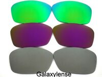 Galaxy Replacement Lenses For Oakley Hijinx Gray&Purple&Green Polarized  3 Pairs