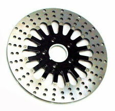Black Stainless Steel 2 Piece Spoke 11.5 Rear Brake Rotor Harley Touring Dyna XL