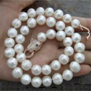 10-12mm white baroque pearl necklace 18 inches Luxury delicate aurora jewelry