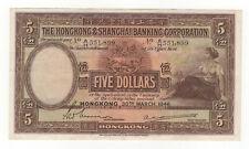 BETTER GRADE 1946 HONG KONG 5 DOLLARS