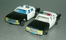 Two 1/64 Scale 1980's Chevy 9C1 Diecast Police Cars (Impala & Caprice) Custom