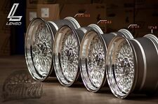 LENSO BSX DEEP DISH ALLOY WHEELS EURO STYLE STAGGERED DISH  17X7.5 17X8.5
