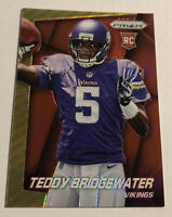 2014 Prizm Teddy Bridgewater Rookie Red Yellow Prizm Vikings Panthers RC SP PSA
