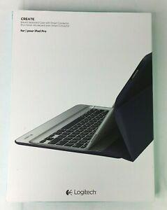"""Logitech 'CREATE' Backlit Keyboard Case For 12.9"""" iPad Pro in Black"""