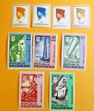 1966 Indonesia Stamps nine stamps with gum MNH nice President Sukarno