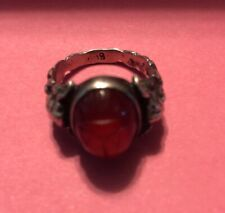 Carnelian Vintage Antique 800 Silver Old Europe Ring Beautiful Size 6