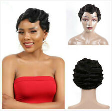 Short Finger Wave Wigs Short Bob Wigs For Woman Short Wigs Brazilian Remy Hair
