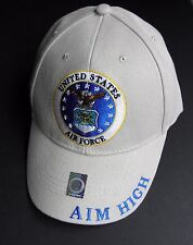 USAF AIR FORCE AIM HIGH FLY FIGHT WIN EMBROIDERED BASEBALL CAP NEW