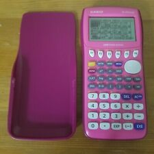 Casio FX-9750GII-PK Graphing Calculator Pink w Cover Tested & Working FX-9750Gii