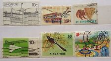 Singapore Used Stamps - 6 pcs Assorted Stamps (B)