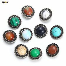 9pcs 18mm Snap Button Turquoise Snap Charms Multi Color For Snap Jewelry 1251