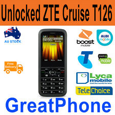 Unlocked ZTE Cruise T126 Mobile phone Telstra * Boost * Lyca *Telchoice*Aldi*WWS