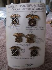 Early US ARMY Officers Transportation Badge Lot of Six (6) - Hard to Find