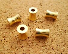 30pcs 4mm by 6mm Yellow Raw Brass Tube Bamboo Beads / Spacers Hole Size 2mm