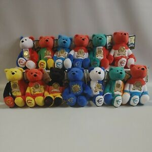 """Limited Treasures Euro Bears With Coins Lot of 13 9"""" Tall Bears"""
