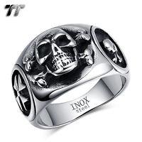 High Quality TT 316L Stainless Steel SKULL Band Ring (RZ171) NEW