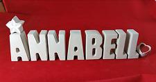 Beton, Steinguss Buchstaben 3D Deko Namen ANNABELL als Geschenk verpackt!