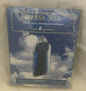 Vintage Whitmor Dress Bag Suit Bag See Thru Vinyl with Non Woven Back 1996