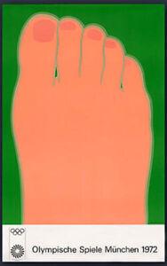 "Tom Wesselmann (Edition 2) 1972 Olympic Poster Olympische Speiel Munich 40""X 25"""