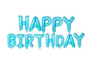 """BULK WHOLESALE 16"""" BLUE HELIUM HAPPY BIRTHDAY LETTERS BALLOON SHOPS PARTY EVENTS"""