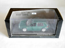 Volkswagen VW Golf 4 Generation GTi grün green metallic, Minichamps 1:43 DEALER