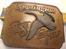 VINTAGE 1980 REMINGTON FIRST IN THE FIELD CANADA GOOSE BELT BUCKLE
