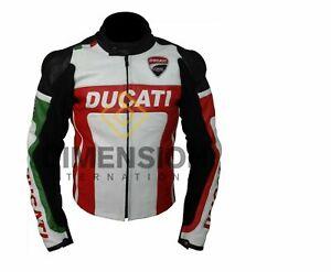 Ducati Motorbike/Motorcycle CE Armoured  Leather Jacket