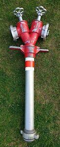 AWG Standrohr Hydrant Aluminium 2xB Rohr DN80 DIN14375 Feuerwehr Bau Wasser
