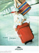 PUBLICITE ADVERTISING 016  1996  LONGCHAMP   valise cabine Régate