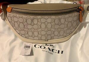 Coach League Belt Bag in Signature Jacquard