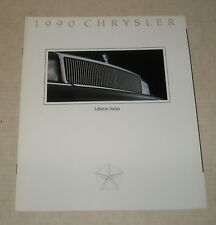 1990 CHRYSLER LeBARON SEDAN AUTO SALES DEALERSHIP ADVERTISING COLOR BROCHURE