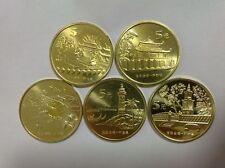 China 2003-2005 Taiwan's scenery Souvenir Coins full set 5PCS
