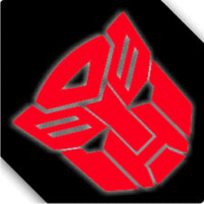 3M Reflective Transformer Autobot Cartoon Car Sticker Decal 00029R Red 12x12cm
