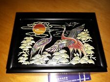 Lacquer Ware inlaid with Mother of Pearl bussiness card box