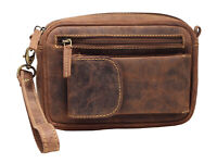 Greenburry Vintage Handgelenktasche Herrentasche Tasche Ledertasche braun