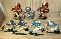 Vintage•1976•HOMCO•Cast Aluminum•Football Players•Wall Hanging•Children's Decor